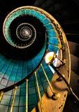 escalera vieja del faro de Charente-Maritime Imagen de archivo