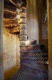 Escalera vieja del hierro Foto de archivo libre de regalías