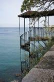 Escalera vieja del hierro en Corfú, Grecia Fotografía de archivo libre de regalías