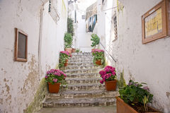 Escalera vieja en Amalfi Italia Fotografía de archivo