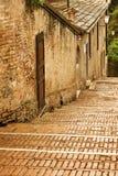 Escalera vieja en un día lluvioso, Siena Italia Fotografía de archivo libre de regalías