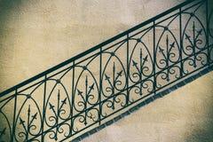 Escalera vieja, fragmento Fotos de archivo
