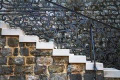 Escalera vieja, fragmento Foto de archivo