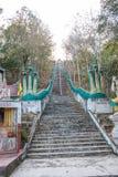 Escalera a Wat Phra That Khao Noi Fotografía de archivo