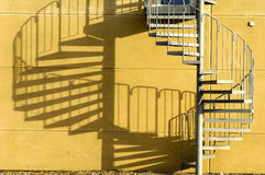 Escalera y cortina Imagenes de archivo