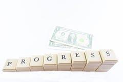 Escalera y dinero imagen de archivo libre de regalías