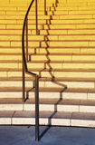 Escalera y pasamano exteriores Fotos de archivo
