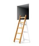 Escalera y ventana en pared stock de ilustración