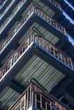 Escaleras de una salida de incendios imagen de archivo libre de regalías
