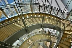 Escaleras únicas arquitectónicas Imagen de archivo