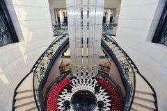 Escaleras 2 del castillo Imagen de archivo libre de regalías