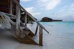 Escaleras abajo al agua Fotografía de archivo libre de regalías