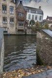 Escaleras abajo al canal Brujas de Groenerei Fotografía de archivo