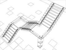 Escaleras abstractas - versión del jpg Imagen de archivo