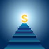 Escaleras al éxito financiero Imagenes de archivo
