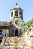 Escaleras al campanario del monasterio de Troyan, Bulgaria Foto de archivo