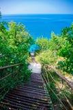 Escaleras al mar Imagenes de archivo