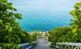 Escaleras al mar Imágenes de archivo libres de regalías