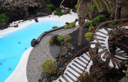 Escaleras al paraíso tropical Imágenes de archivo libres de regalías