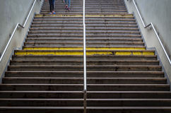 Escaleras al subterráneo Fotos de archivo