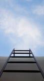 Escaleras al tejado Foto de archivo libre de regalías