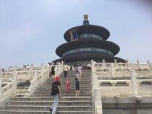 Escaleras al templo Fotografía de archivo