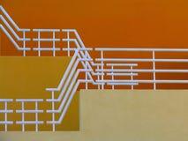 Escaleras amarillas Foto de archivo