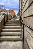 Escaleras antiguas Foto de archivo libre de regalías