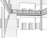 Escaleras arquitectónicas del bosquejo
