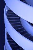 Escaleras azules Foto de archivo libre de regalías