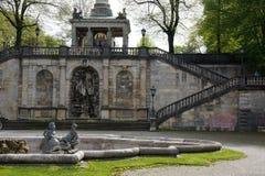 Escaleras bávaras de la señal al ángel del monumento de la paz imágenes de archivo libres de regalías