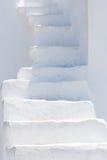 Escaleras blancas Foto de archivo libre de regalías