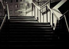 Escaleras blancos y negros Foto de archivo libre de regalías