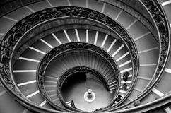 Escaleras circulares en Vaticano Imagenes de archivo
