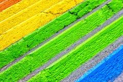 Escaleras coloridas Imagen de archivo