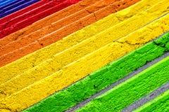 Escaleras coloridas Fotos de archivo