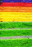 Escaleras coloridas Fotografía de archivo
