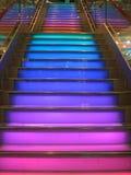 Escaleras coloridas Imagen de archivo libre de regalías