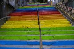Escaleras coloridas Foto de archivo libre de regalías