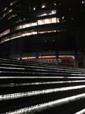 Escaleras comerciales del edificio de São Pablo Foto de archivo libre de regalías