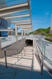 Escaleras con el techo de cristal Foto de archivo libre de regalías