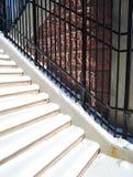 Escaleras con nieve Foto de archivo libre de regalías