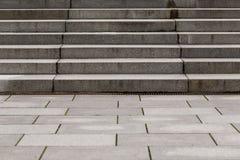 Escaleras concretas modernas abstractas Fotografía de archivo