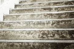 Escaleras concretas viejas Foto de archivo libre de regalías