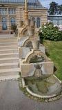 Escaleras constructivas históricas del parque de Alemania del parque zoológico de Wilhema fotos de archivo