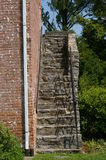 Escaleras de Abandonded Foto de archivo