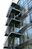 Escaleras de acero exteriores Foto de archivo libre de regalías