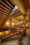 Escaleras de cobre Imagenes de archivo