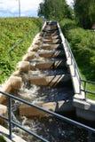 Escaleras de color salmón Imagenes de archivo