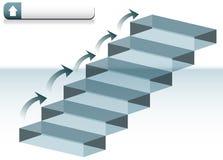 Escaleras de cristal Imágenes de archivo libres de regalías